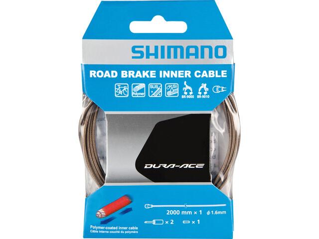 Shimano Dura-Ace BC-9000 Remkabel Eindkap polymeer coating, grey